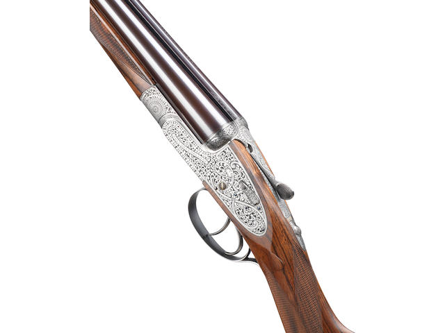 "A fine J.G. Salt-engraved 20-bore (2¾in) 'The ""Royal"" Model' self-opening sidelock ejector gun by Holland & Holland, no. 41245 In its brass-mounted oak and leather case with canvas cover"