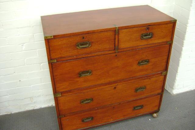 19th Century Teak military chest
