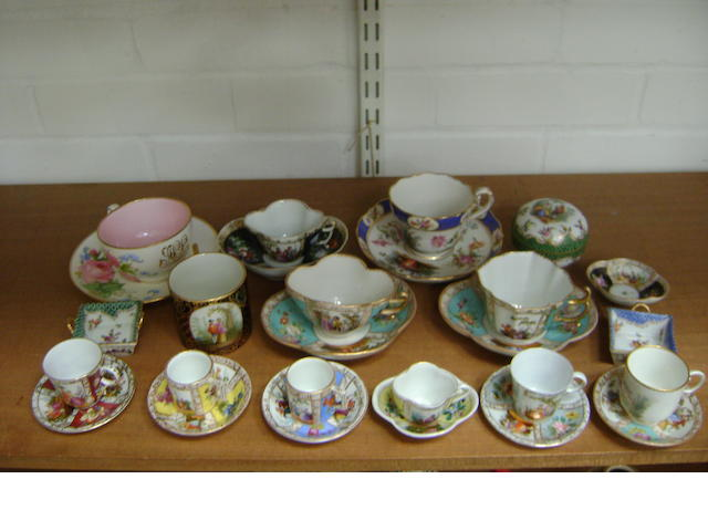 A small collection of cups and saucers