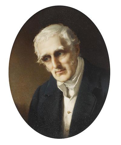 Robert Thorburn, ARA HRSA (British, 1818-1885) Field Marshal Arthur Wellesley, 1st Duke of Wellington, KG, GCB, GCH, PC, FRS (1769-1852), wearing blue coat, white waistcoat, chemise and stock