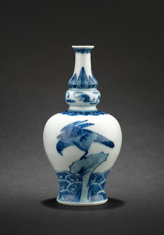 A blue and white vase Kangxi six-character mark
