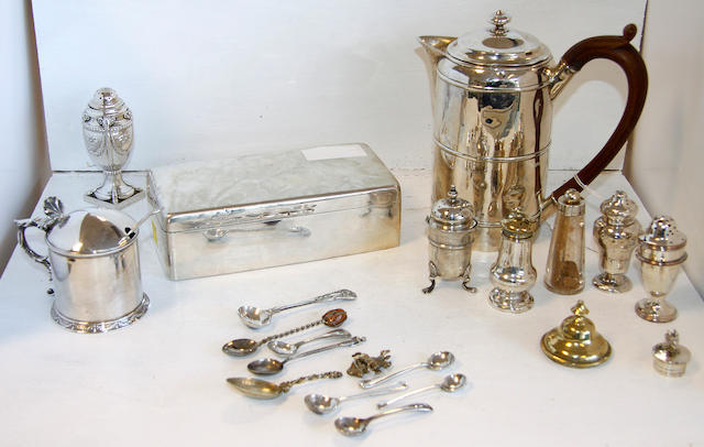 A William IV silver cylindrical hot water pot,
