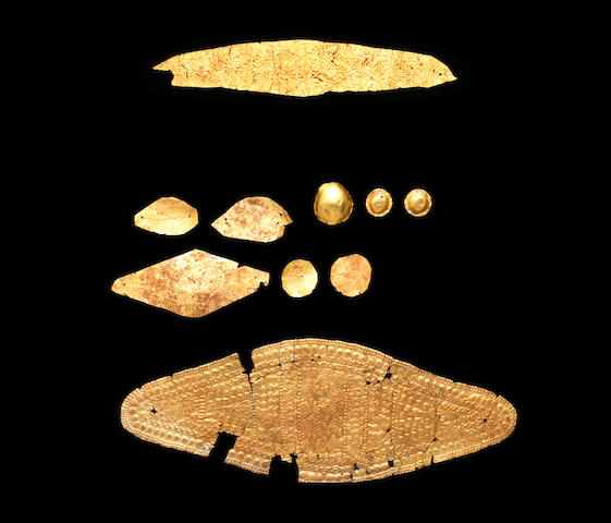 A group of ten Thracian sheet gold elements 10
