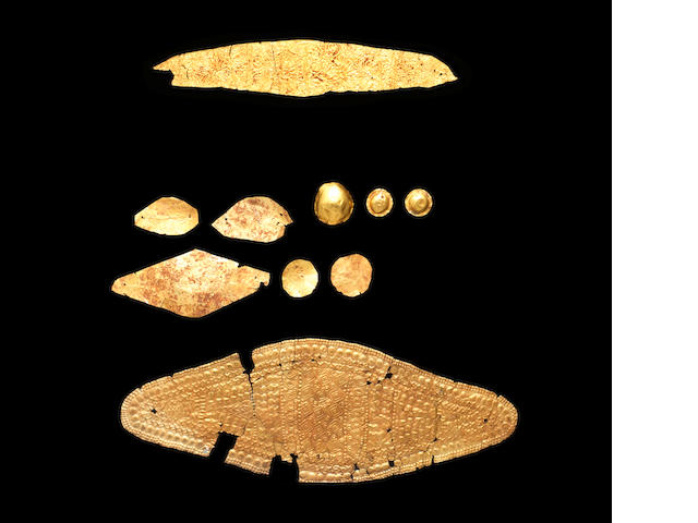 A group of Greek/Thracian sheet gold jewellery