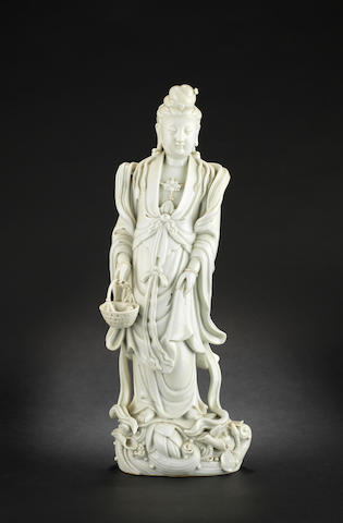 A blanc-de-chine figure of Guanyin 18th or 19th century