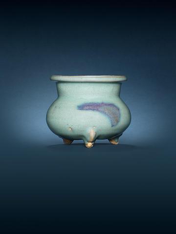 A Junyao tripod globular bowl 12th/13th century