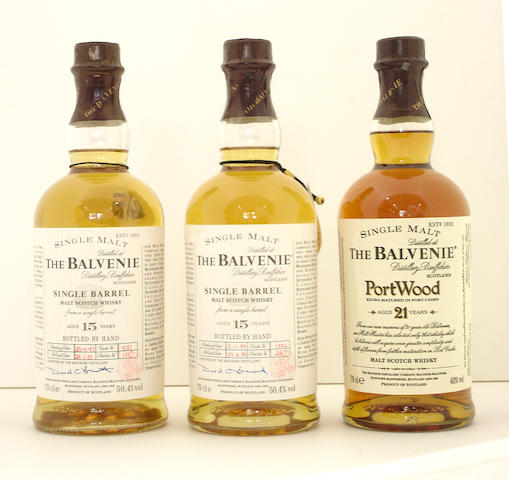 The Balvenie Single Barrel-15 year old-1981 (2) <BR /> The Balvenie Single Barrel-15 year old-1983 (3) <BR /> The Balvenie Port Wood-21 year old