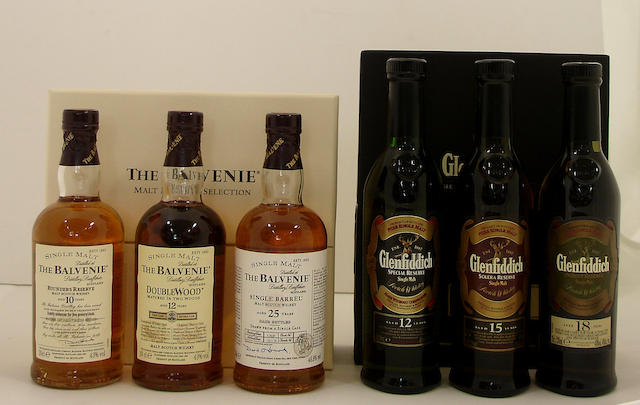 Glenfiddich Millenium Reserve-21 year old<BR /> Glenfiddich-15 year old<BR /> Glenfiddich Solera Reserve-15 year old (5)