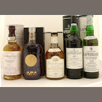 The Balvenie Single Barrel-15 year old-1983<BR /> Isle of Jura-21 year old<BR /> Dalwhinnie-15 year old<BR /> Laphroaig-15 year old<BR /> Laphroaig-10 year old