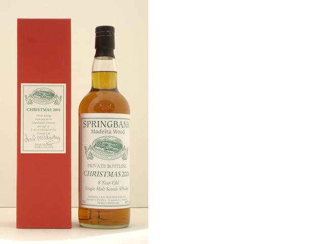Springbank Madeira Wood Christmas 2004-8 year old