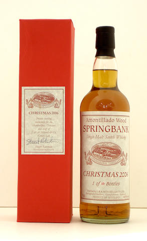 Springbank Amontillado Wood Christmas-2006