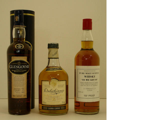 Glengoyne-21 year old<BR /> Dalwhinnie Centenary-15 year old<BR /> As We Get It