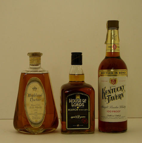Highland Nectar  House of Lords-12 year old  Kentucky Tavern-8 year old