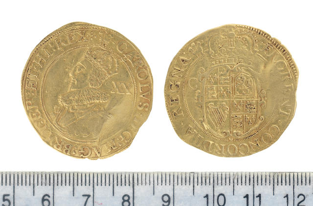 Charles I, Tower mint, under the King (1625-42), Unite, 8.8g, third bust left,