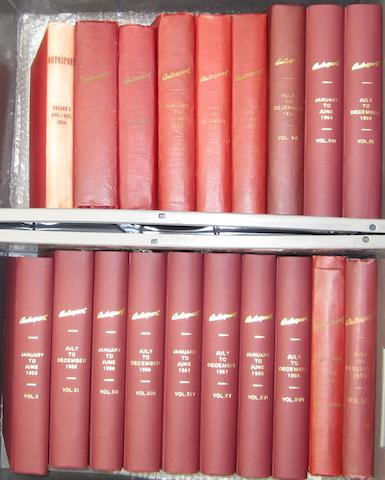 Autosport; bound Volumes 1 to 19, (1950-1959)