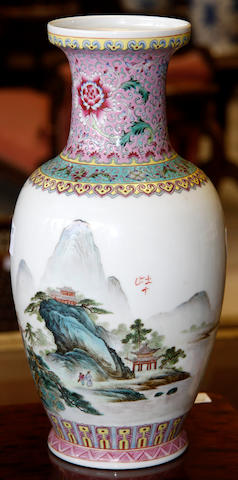 Republican period vase with Qianlong mark,