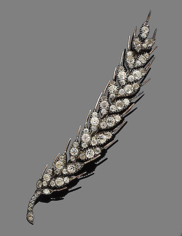 An early 19th century paste brooch