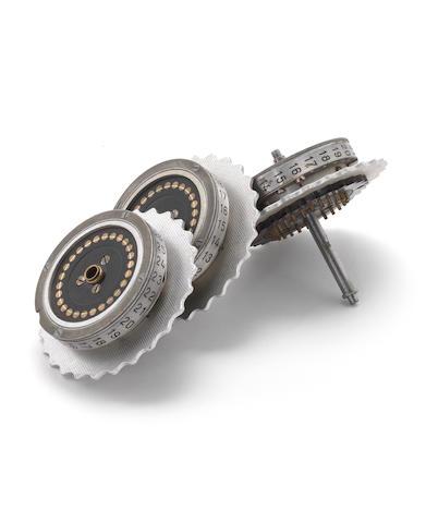 A complete trio Enigma machine rotor set, by Etel-Werk, 1943,
