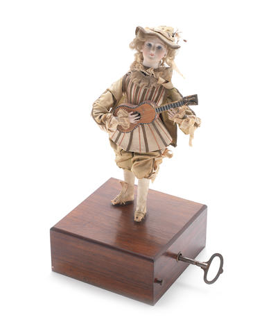 A musical guitar-player automaton, French, late 19th century,