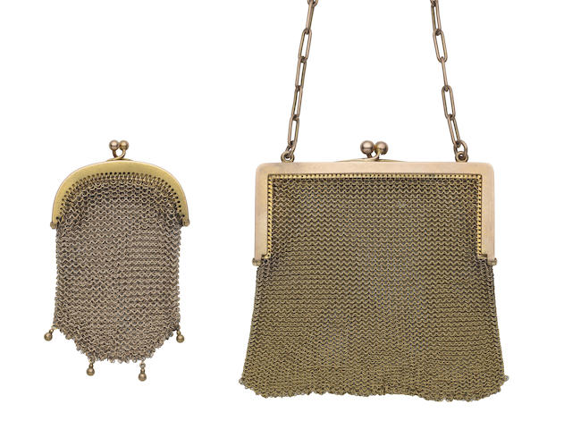 Two mesh purses  (2) (illustrated above)