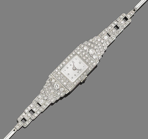 A diamond-set lady's wristwatch,