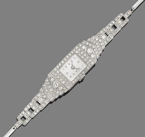 A diamond-set lady's wristwatch,