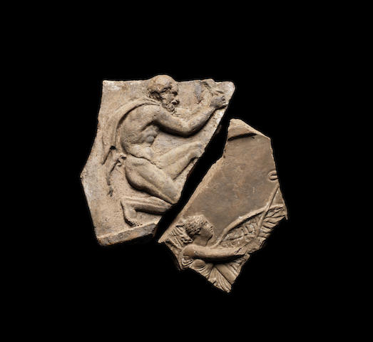 Two Roman 'Campana' terracotta relief fragments 2