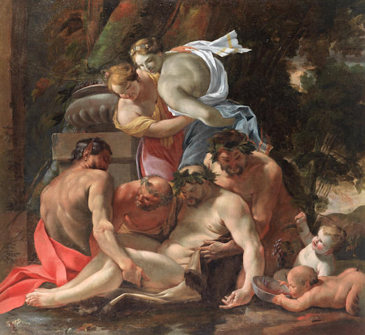 Workshop of Michel Dorigny (Saint-Quentin 1617-1665 Paris) A Bacchanale unframed
