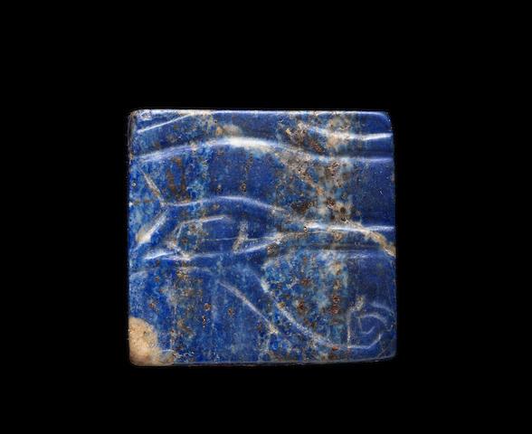 An Egyptian lapis lazuli plaque