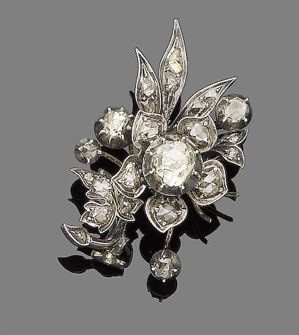 An late 19th century diamond brooch