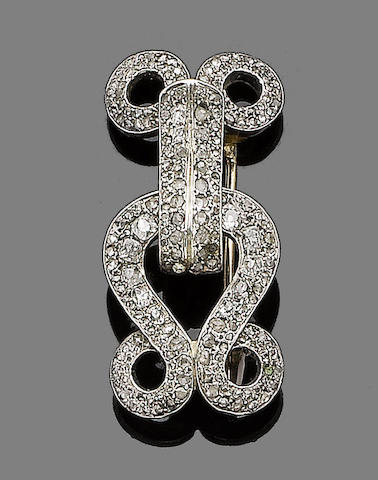 A late 19th century diamond-set brooch