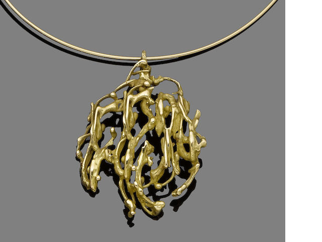 A pendant necklace, by Pierre Cardin