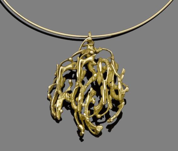 A pendant necklace, by Pierre Cardin