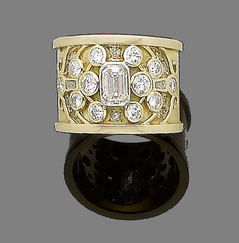 A diamond-set dress ring