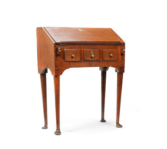A small oak standing bureau Constructed using 18th century timbers