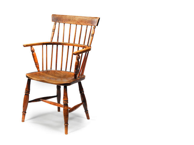 An antique oak Windsor chair