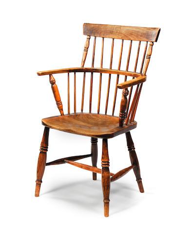 An antique oak Windsor chair