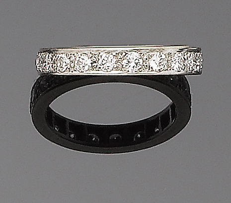A diamond eternity band,