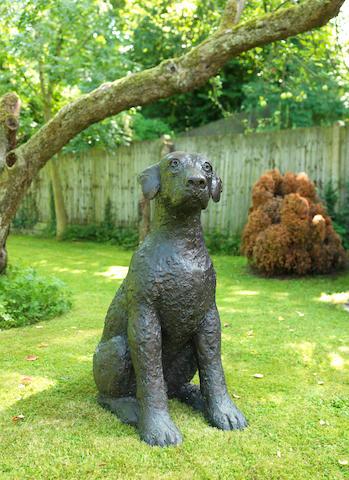 Dame Elisabeth Frink R.A. (British, 1930-1993) Leonardo's Dog II 100.5 cm. (39.5 in.) high