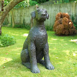 Dame Elisabeth Frink R.A. (British, 1930-1993) Leonardo's Dog II 100.5 cm. (39.5 in.) high