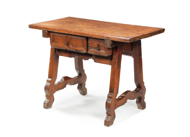 A Spanish chestnut centre table Late 17th/early 18th century