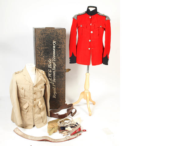 Royal 1st Devon Imperial Yeomanry Uniform Elements Pertaining To Major William Gerald Hole (1881-1974)