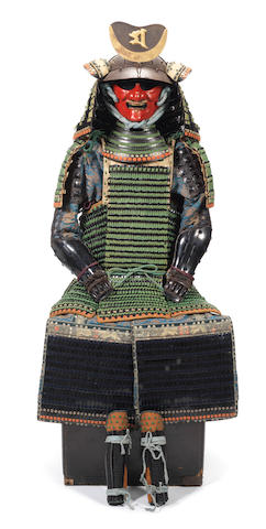 An extremely unusual armour for a female warrior Late Edo Period, 19th century