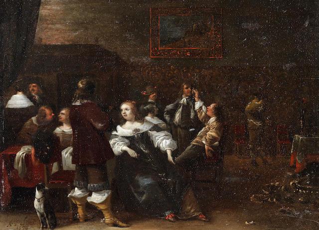 Anthonie Palamedesz. (Delft 1601-1673 Amsterdam) Merrymaking in an interior
