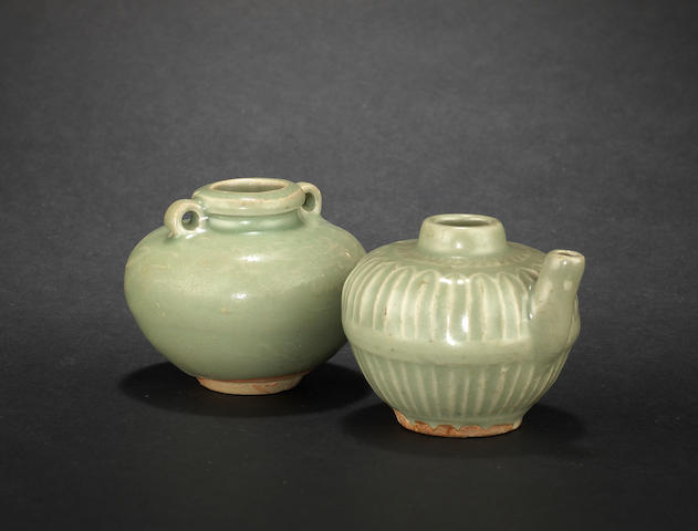 Two small celadons Probably Yuan or Early Ming Dynasty