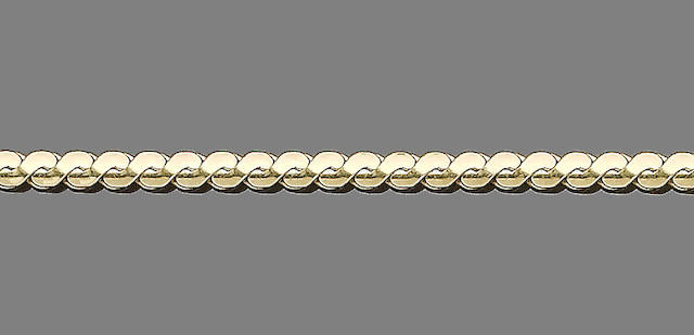 A gold fancy-link necklace