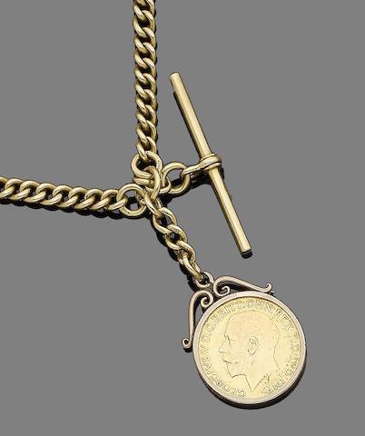 A gold Albert chain