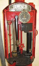 A Bowser hand cranked petrol pump,