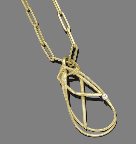 A gold and diamond pendant and bracelet, by Grima, (2) (partially illustrated)