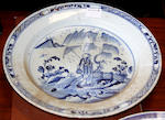 Three 18th Ccentury delft ware shallow bowls,